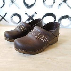 90s Y2K Dansko Clogs Leather Boho Studded 40